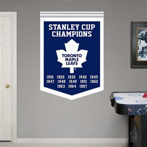 Chionship Banner Template toronto maple leafs stanley cup chions banner wall