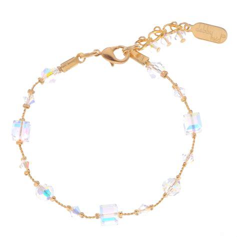 swarovski bead bracelet swarovski clear gold bead bracelet for