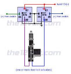 door locks actuators reverse polarity positive