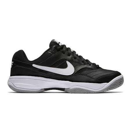 nike court lite siyah erkek tenis spor ayakkabisi