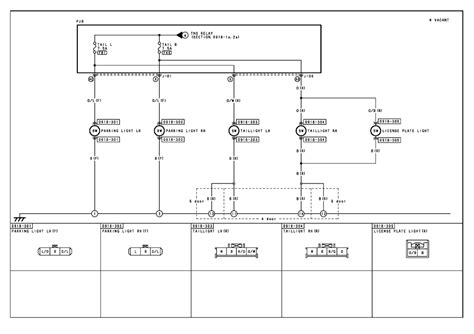 parking lights wiring diagram license plate light wiring