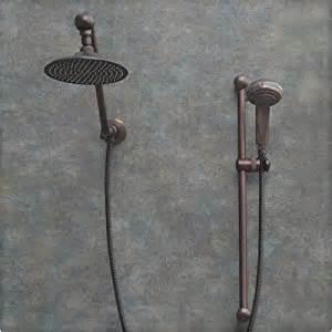 atlantis 7 rub bronze shower with handheld