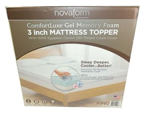 novaform 3 pure comfort memory foam mattress topper reviews new novaform 3 quot memory foam mattress topper king sleep