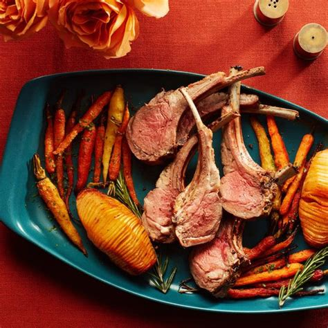 Rosemary Rack Of by Roasted Potatoes And Carrots Rack Of And Roasted