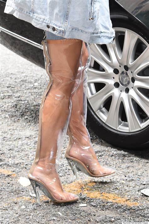 see through high heeled shoes s clear thigh high boots take rainwear to