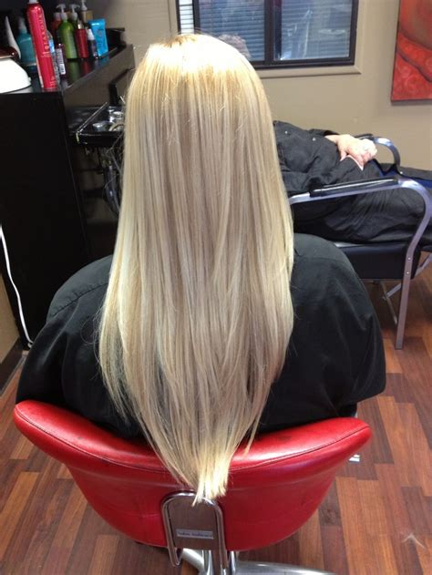 v cut hair styles long blond layers cut into a v straight hair pinterest