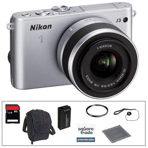 nikon 1 j3 mirrorless digital nikon 1 j3 mirrorless digital deluxe accessory kit b h