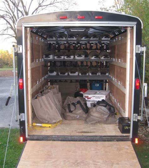 Garage Sale Organizers - 8 best images about enclosed trailer storage on pinterest shelves cargo trailers and pictures of