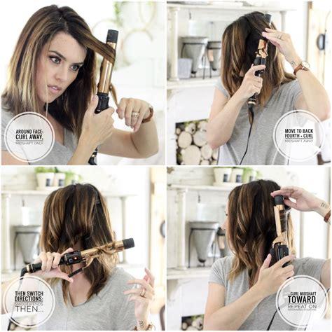 lob curling tutorial how i style my hair easy long bob hair tutorial plus