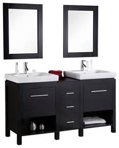 Bathroom Furniture Nyc Design Element New York 60 Quot Espresso Modern Sink Vanity Set Modern Bathroom Vanities