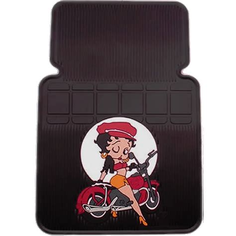 Betty Boop Car Mats by 2pc Betty Boop Motorcycle Style Front Car Floor Mats Ebay
