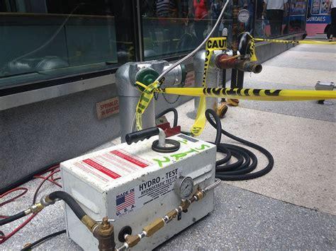 Hydrostatic Pressure Test Plumbing by Hydrostatic Test