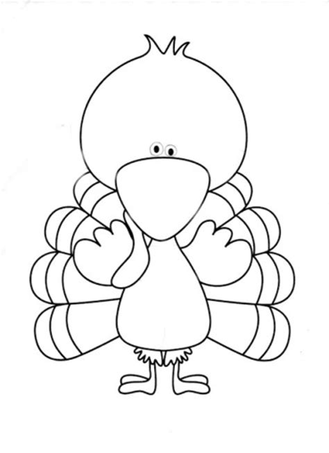 turkey printable template cooked turkey template