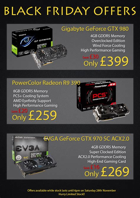 Black Friday Gift Card Specials - black friday video card offers north east peripherals ltd