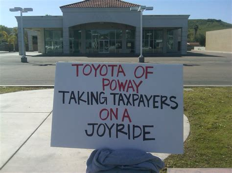 Toyota Of Poway Toyota Of Poway Takes Your Redevelopment Money Poway