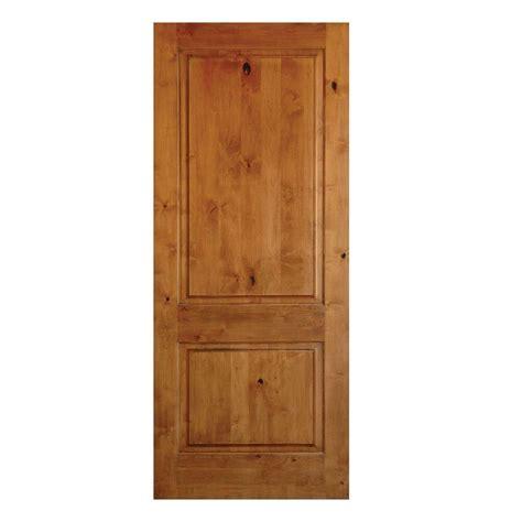 16 Interior Door Krosswood Doors 18 In X 96 In Rustic Knotty Alder 2 Panel Square Top Solid Wood Left