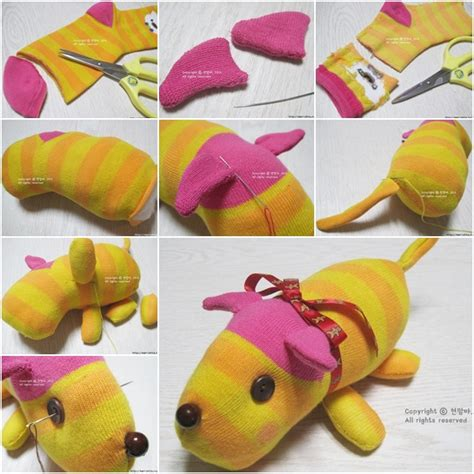 easy sock animals tutorial how to diy sock puppy fab diy
