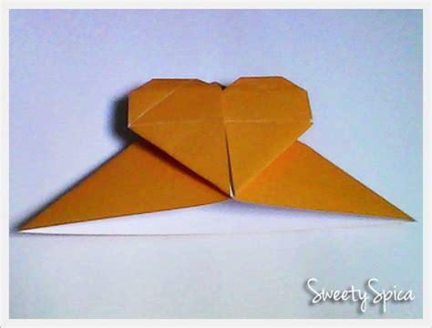 tutorial origami hati tutorial origami pembatas buku berbentuk hati sweety spica