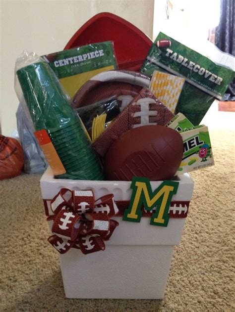 Bowl Gift Baskets by 25 Best Ideas About Football Gift Baskets On