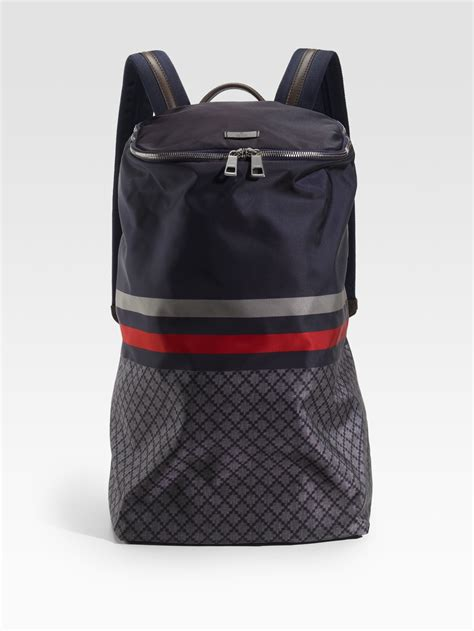gucci diamante backpack in blue for lyst