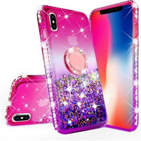 iphone xs max  case glitter liquid floating quicksand
