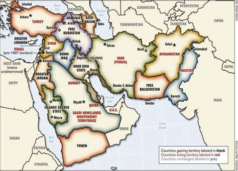 show me a map of the middle east the map of the new middle east