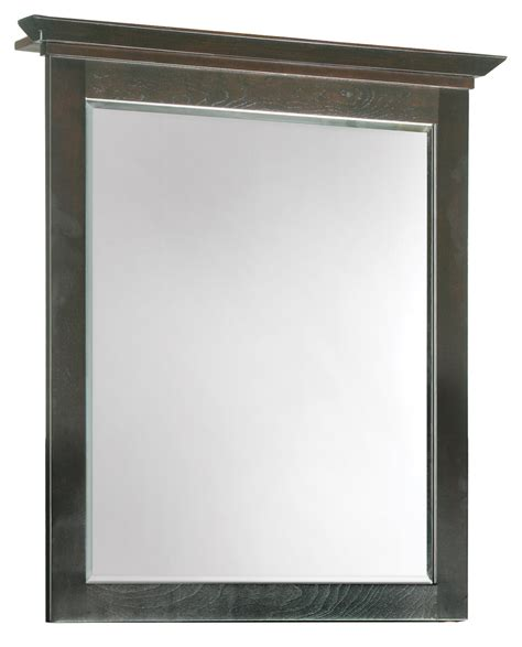 Maple Bathroom Mirror Design House 539692 Ventura Espresso Wall Mirror With Solid Maple Frames 26 Inches By 30 Inches