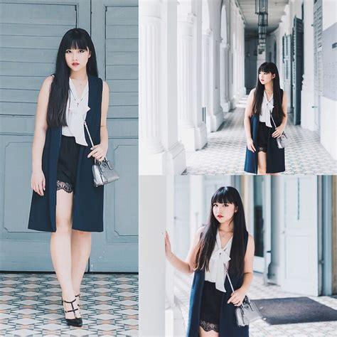 Pradaaa Alma Mini koh zara tailored waistcoat zara white chiffon top topshop lace trim shorts