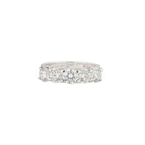18k white gold half eternity ring 2 01ct rich