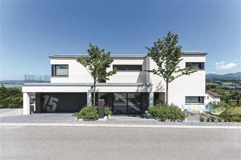 flachdachhaus mit garage energieeffizientes design haus weberhaus fertighaus