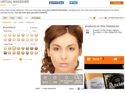 websites   virtual makeover