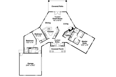 One Story House Plans With Two Master Suites by Ranch House Plans Hamilton 10 446 Associated Designs