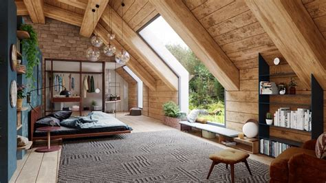 cozy modern rustic cabin   trees