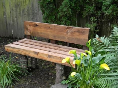 homemade log bench diy outdoor bench ideas for garden and patio