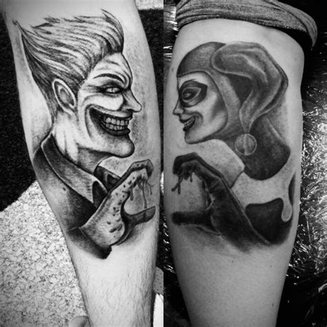 batman tattoo couple joker harley quinn couple tattoo relationshipgoals i