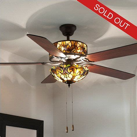 stained glass ceiling fan master bedroom style 52 lit