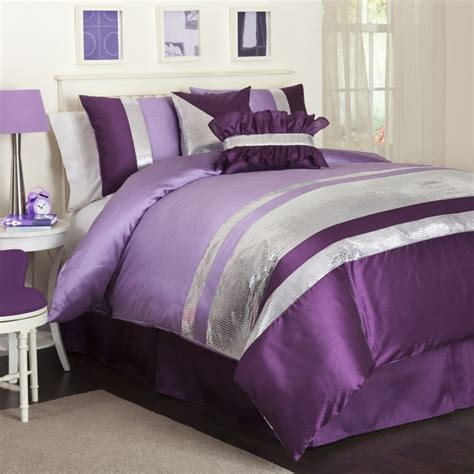 Bedroom Adorable Pink And Purple Comforter Sets Queen Purple Bedding Sets