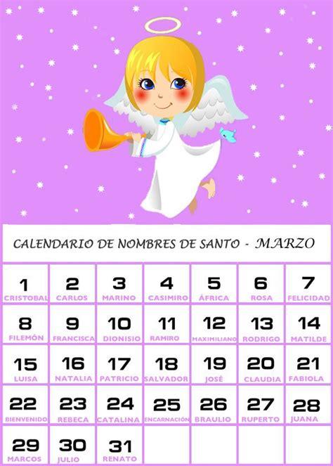 Dia De Tu Santo Calendario Calendario De Los Nombres De Santos De Marzo