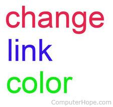 how to change link color in html changing link color when moving mouse link in html