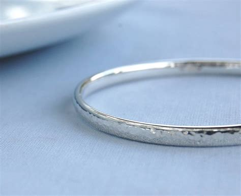 Handmade Bangles - simple handmade hammered silver bangle by alison