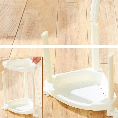 free standing shelves for bathroom four layers white plastic corner bathroom free standing