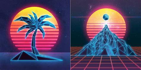 80 s colors striking 80s retro prints fubiz media