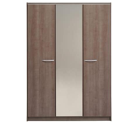 armoire 3 portes evo 2 noyer silver armoires but