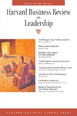 Harvard Mba Prices by Harvard Business Review On Leadership Book By Henry