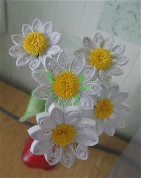 daisy paper flower pattern sun quilling and flower on pinterest