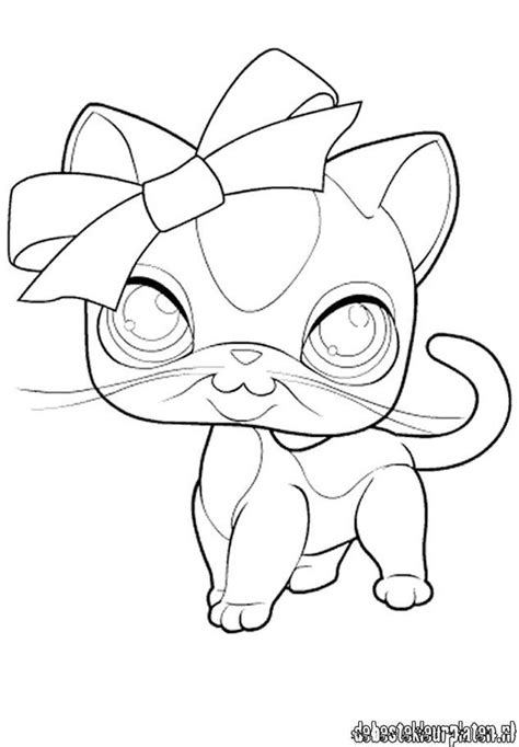 easy coloring pages of cats littlest pet shop kleurplaat littlestpetshop13 quotes