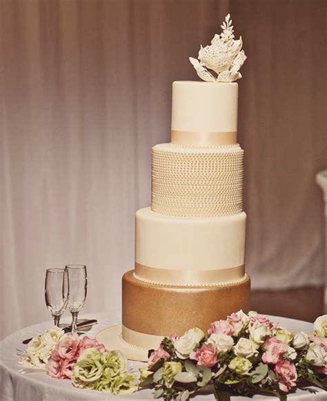 Modern Wedding Cakes by Glistening Golden Wedding Cakes Modern Wedding