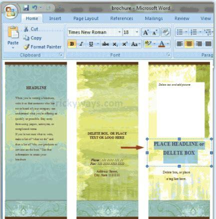 membuat teks prosedur cara melakukan tari daerah cara membuat brosur dengan microsoft word 2010