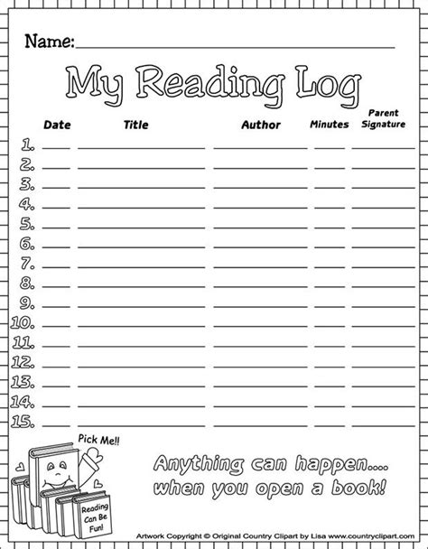 20+ Best Reading Log Templates | Reading log printable