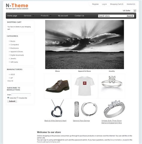 free nopcommerce templates nopcommerce template jewelry 1 90 new